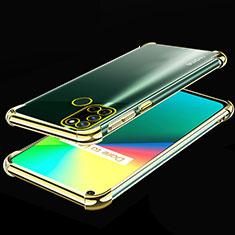 Silikon Schutzhülle Ultra Dünn Flexible Tasche Durchsichtig Transparent H01 für Realme 7i Gold