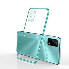 Silikon Schutzhülle Ultra Dünn Flexible Tasche Durchsichtig Transparent H01 für Realme V5 5G Grün