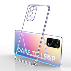 Silikon Schutzhülle Ultra Dünn Flexible Tasche Durchsichtig Transparent H01 für Realme X7 Pro 5G Helles Lila