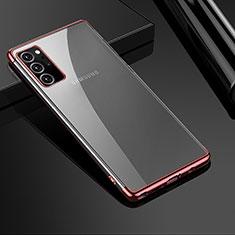 Silikon Schutzhülle Ultra Dünn Flexible Tasche Durchsichtig Transparent H01 für Samsung Galaxy Note 20 Ultra 5G Rosegold