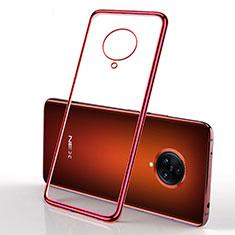 Silikon Schutzhülle Ultra Dünn Flexible Tasche Durchsichtig Transparent H01 für Vivo Nex 3 5G Rot