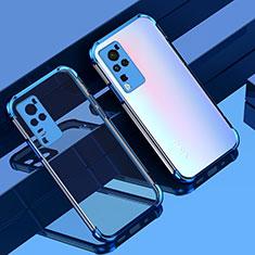 Silikon Schutzhülle Ultra Dünn Flexible Tasche Durchsichtig Transparent H01 für Vivo X60 Pro 5G Blau