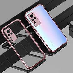 Silikon Schutzhülle Ultra Dünn Flexible Tasche Durchsichtig Transparent H01 für Vivo X60 Pro 5G Rosegold