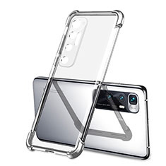 Silikon Schutzhülle Ultra Dünn Flexible Tasche Durchsichtig Transparent H01 für Xiaomi Mi 10 Ultra Silber