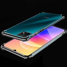 Silikon Schutzhülle Ultra Dünn Flexible Tasche Durchsichtig Transparent H02 für Huawei Enjoy 20 5G Schwarz
