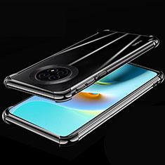 Silikon Schutzhülle Ultra Dünn Flexible Tasche Durchsichtig Transparent H02 für Huawei Enjoy 20 Plus 5G Schwarz