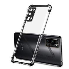 Silikon Schutzhülle Ultra Dünn Flexible Tasche Durchsichtig Transparent H02 für Huawei Honor 30 Pro Schwarz