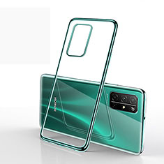 Silikon Schutzhülle Ultra Dünn Flexible Tasche Durchsichtig Transparent H02 für Huawei Honor 30S Grün