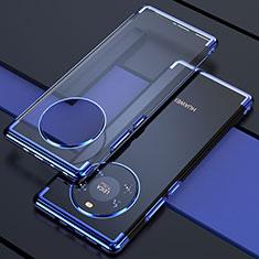 Silikon Schutzhülle Ultra Dünn Flexible Tasche Durchsichtig Transparent H02 für Huawei Mate 40 Blau