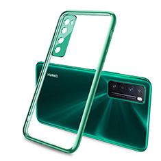 Silikon Schutzhülle Ultra Dünn Flexible Tasche Durchsichtig Transparent H02 für Huawei Nova 7 5G Grün