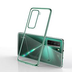 Silikon Schutzhülle Ultra Dünn Flexible Tasche Durchsichtig Transparent H02 für Huawei Nova 7 SE 5G Grün