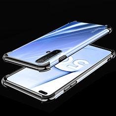 Silikon Schutzhülle Ultra Dünn Flexible Tasche Durchsichtig Transparent H02 für Realme X50m 5G Schwarz