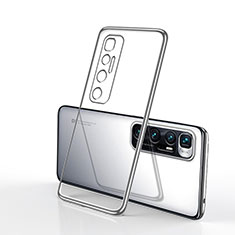 Silikon Schutzhülle Ultra Dünn Flexible Tasche Durchsichtig Transparent H02 für Xiaomi Mi 10 Ultra Silber