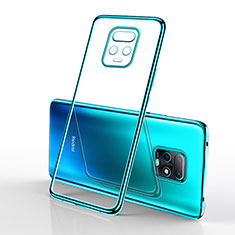 Silikon Schutzhülle Ultra Dünn Flexible Tasche Durchsichtig Transparent H02 für Xiaomi Redmi 10X Pro 5G Cyan