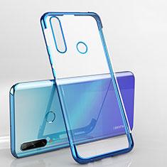 Silikon Schutzhülle Ultra Dünn Flexible Tasche Durchsichtig Transparent H03 für Huawei Enjoy 10 Plus Blau