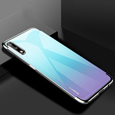 Silikon Schutzhülle Ultra Dünn Flexible Tasche Durchsichtig Transparent H03 für Huawei Enjoy 10 Silber