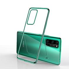 Silikon Schutzhülle Ultra Dünn Flexible Tasche Durchsichtig Transparent H03 für Huawei Honor 30 Pro Grün