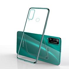 Silikon Schutzhülle Ultra Dünn Flexible Tasche Durchsichtig Transparent H03 für Huawei Honor Play4T Grün