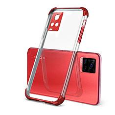 Silikon Schutzhülle Ultra Dünn Flexible Tasche Durchsichtig Transparent H03 für Vivo V20 Pro 5G Rot