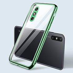 Silikon Schutzhülle Ultra Dünn Flexible Tasche Durchsichtig Transparent H04 für Huawei Enjoy 10e Grün