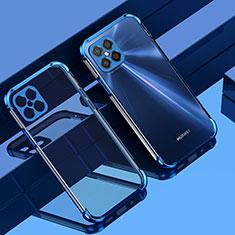 Silikon Schutzhülle Ultra Dünn Flexible Tasche Durchsichtig Transparent H04 für Huawei Nova 8 SE 5G Blau