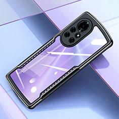 Silikon Schutzhülle Ultra Dünn Flexible Tasche Durchsichtig Transparent H05 für Huawei Nova 8 Pro 5G Schwarz