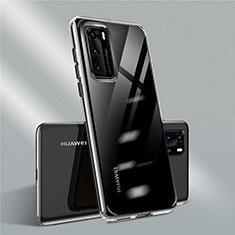 Silikon Schutzhülle Ultra Dünn Flexible Tasche Durchsichtig Transparent N01 für Huawei P40 Schwarz