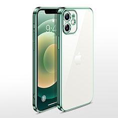 Silikon Schutzhülle Ultra Dünn Flexible Tasche Durchsichtig Transparent N04 für Apple iPhone 12 Grün