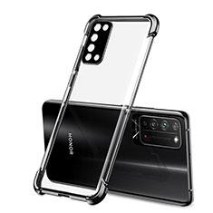 Silikon Schutzhülle Ultra Dünn Flexible Tasche Durchsichtig Transparent S01 für Huawei Honor X10 5G Schwarz