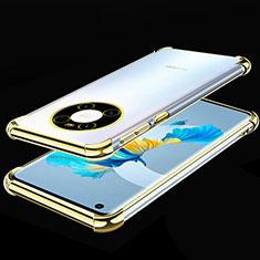 Silikon Schutzhülle Ultra Dünn Flexible Tasche Durchsichtig Transparent S01 für Huawei Mate 40 Gold