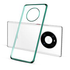 Silikon Schutzhülle Ultra Dünn Flexible Tasche Durchsichtig Transparent S01 für Huawei Mate 40 Pro Grün