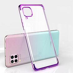 Silikon Schutzhülle Ultra Dünn Flexible Tasche Durchsichtig Transparent S01 für Huawei Nova 6 SE Violett