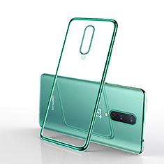 Silikon Schutzhülle Ultra Dünn Flexible Tasche Durchsichtig Transparent S01 für OnePlus 8 Grün
