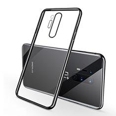 Silikon Schutzhülle Ultra Dünn Flexible Tasche Durchsichtig Transparent S01 für OnePlus 8 Pro Schwarz