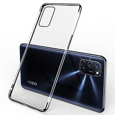 Silikon Schutzhülle Ultra Dünn Flexible Tasche Durchsichtig Transparent S01 für Oppo A52 Schwarz