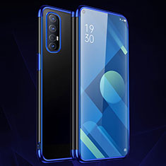 Silikon Schutzhülle Ultra Dünn Flexible Tasche Durchsichtig Transparent S01 für Oppo Find X2 Neo Blau