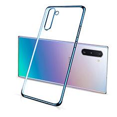 Silikon Schutzhülle Ultra Dünn Flexible Tasche Durchsichtig Transparent S01 für Samsung Galaxy Note 10 5G Blau