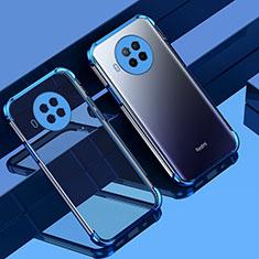 Silikon Schutzhülle Ultra Dünn Flexible Tasche Durchsichtig Transparent S01 für Xiaomi Mi 10T Lite 5G Blau