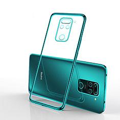 Silikon Schutzhülle Ultra Dünn Flexible Tasche Durchsichtig Transparent S01 für Xiaomi Redmi Note 9 Grün