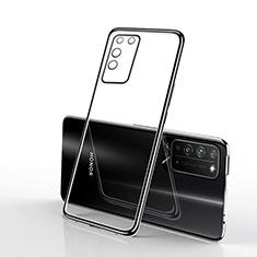 Silikon Schutzhülle Ultra Dünn Flexible Tasche Durchsichtig Transparent S02 für Huawei Honor X10 5G Schwarz