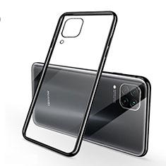 Silikon Schutzhülle Ultra Dünn Flexible Tasche Durchsichtig Transparent S02 für Huawei Nova 6 SE Schwarz