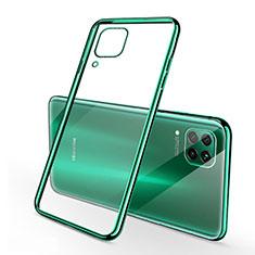 Silikon Schutzhülle Ultra Dünn Flexible Tasche Durchsichtig Transparent S02 für Huawei Nova 7i Grün