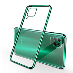 Silikon Schutzhülle Ultra Dünn Flexible Tasche Durchsichtig Transparent S02 für Huawei P40 Lite Grün