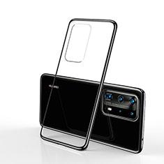 Silikon Schutzhülle Ultra Dünn Flexible Tasche Durchsichtig Transparent S02 für Huawei P40 Pro Schwarz