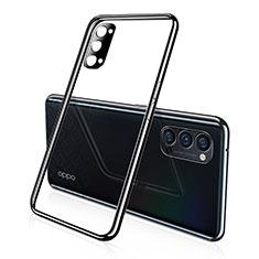 Silikon Schutzhülle Ultra Dünn Flexible Tasche Durchsichtig Transparent S02 für Oppo Reno4 Pro 5G Schwarz