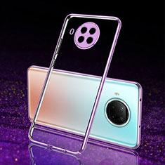 Silikon Schutzhülle Ultra Dünn Flexible Tasche Durchsichtig Transparent S02 für Xiaomi Mi 10T Lite 5G Violett