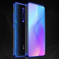 Silikon Schutzhülle Ultra Dünn Flexible Tasche Durchsichtig Transparent S02 für Xiaomi Mi 9T Pro Blau