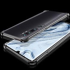 Silikon Schutzhülle Ultra Dünn Flexible Tasche Durchsichtig Transparent S02 für Xiaomi Mi Note 10 Schwarz