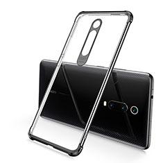 Silikon Schutzhülle Ultra Dünn Flexible Tasche Durchsichtig Transparent S03 für Xiaomi Mi 9T Pro Schwarz