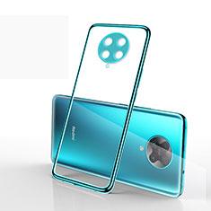 Silikon Schutzhülle Ultra Dünn Flexible Tasche Durchsichtig Transparent S03 für Xiaomi Redmi K30 Pro 5G Cyan